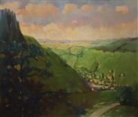 landscape at sasca montană by corneliu liuba