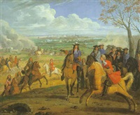 louis xvi à la prise d'une ville du nord (ypres?) by adrian frans van der meulen