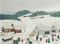 catching the thanksgiving turkey by grandma moses