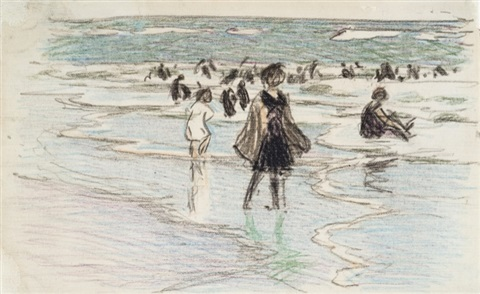 beach scene i by edward henry potthast