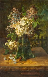 flieder in einer vase by hans zatzka