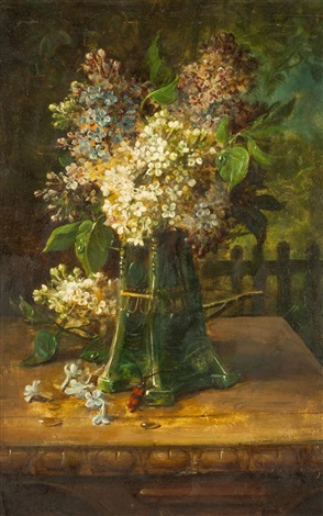 flieder in einer vase by hans zatzka