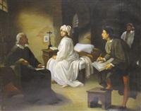 guido reni peignant le portrait de béatrice cenci en prison by achille leonardi