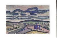 landscape with cypresses by otto b. de kat