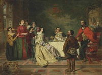 sancho tells a tale to the duke and duchess by william powell frith