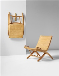pair of folding chairs, model no. jh 512 by hans j. wegner