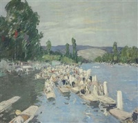 the henley regatta by george oberteuffer