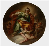 an allegory of justice (+ an allegory of fortitude; pair) by fedele fischetti