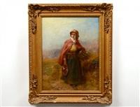 peasant girl gathering by james john hill
