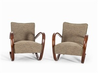 armchairs, mod. 269 (pair) by jindrich halabala