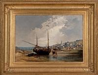 bateaux de pêche à marée basse by jules achille noel