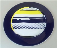 pop art service plate by roy lichtenstein