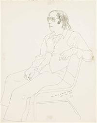 mo seated by david hockney