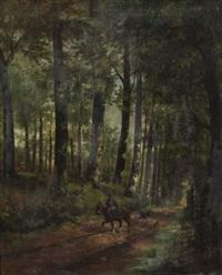 cavalier et son chien by dieudonne jacobs