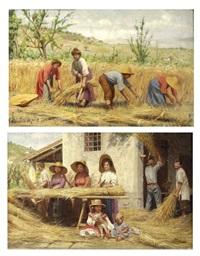 la raccolta del grano (pair) by giovanni sandrucci