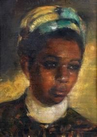 portrait de femme by josé cruz herrera
