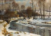 bach im winter by oldrich hlavsa