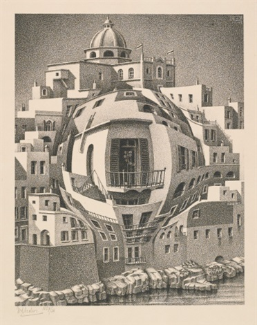 balcony by m c escher