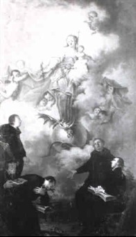 the immaculate conception appearing to a group of jesuits by ignaz joseph raab