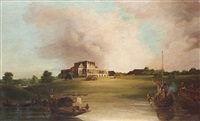 a view of barrackpore house, calcutta by charles (sir) d'oyly