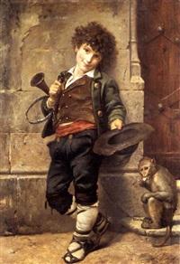petit musicien de rues by a. de listerre