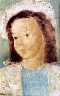 jeune fille à la couronne de fleurs by alice hohermann
