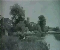 bidford church from the river by arthur wellesley cottrell