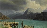 landschaft am urnersee bei sisikon by jean francois xavier roffiaen