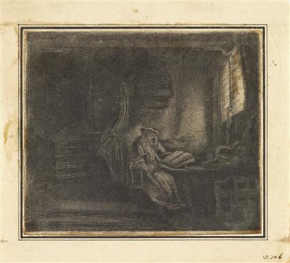 saint jerome in a dark chamber by rembrandt van rijn