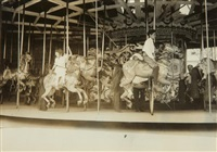 carousel, coney island, new york by lewis wickes hine