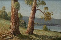 hawkesbury landscape by william lister-lister