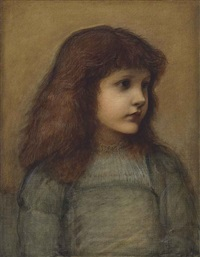 portrait of gertie lewis by edward burne-jones