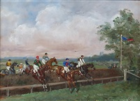 la course d'obstacles by karl andré jean (baron) reille