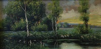 floodplain landscape by jaroslav augusta