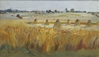wheat fields by fernand (just) quignon