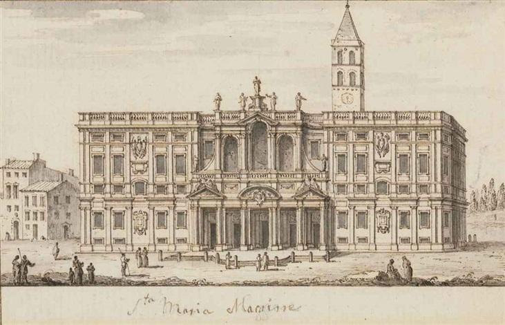 a view of santa maria maggiore rome by francesco zucchi
