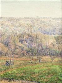 paysage de montagnes by gustave camille gaston cariot