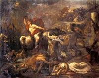 l'enlèvement des sabines (study) by alexis joseph mazerolle