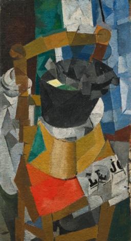 chaise et boîte à chapeaux by jean pougny