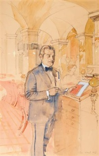 louis, manager of annabel's by john stanton ward