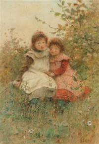 young girls by h. cottiere
