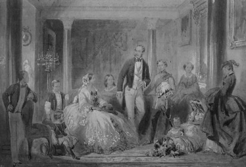 prince albert and his family by ange louis janet lange janet