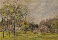 spring landscape by theodore wendel