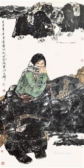 人物 镜心 设色纸本 by li wei
