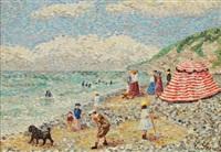 la plage de varengeville by camille lesne