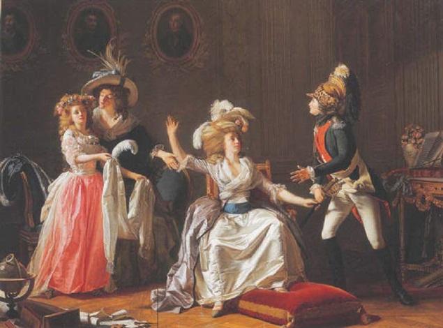 le départ de monsieur de saint marc pour la bataille de fontenoy by michel garnier
