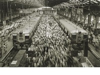 church gate station, western railroad line, bombay, india by sebastião salgado