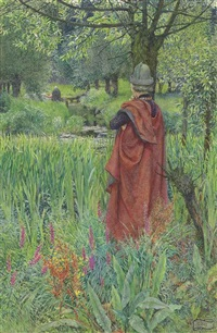 lancelot and elaine: farewell, fair lily by eleanor fortescue-brickdale