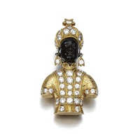 a brooch, designed as a blackamoor by g. nardi