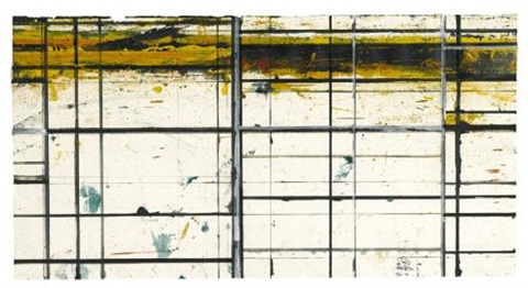 masking drawing 2 (yellow and purple) by brice marden